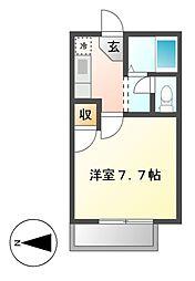 ハイツカトレ[1階]の間取り