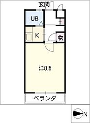 タウンコート岩塚[4階]の間取り
