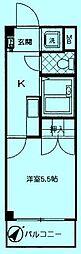 アローランド溝の口[1階]の間取り