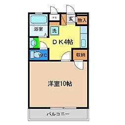 セリオン富田橋[302号室]の間取り