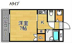 シェポールK&M[5階]の間取り