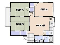第2エレガントヤマサキ[1階]の間取り