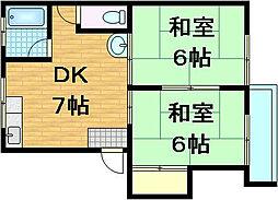 ジュネス瀬田[2階]の間取り