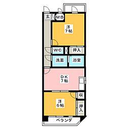 シャトーSI[5階]の間取り