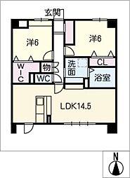 仮)久地野マンション[1階]の間取り