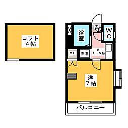マーベラス六本松[1階]の間取り