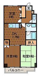 エスポアール1[6階]の間取り