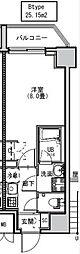 都営大江戸線 両国駅 徒歩6分の賃貸マンション 9階1Kの間取り