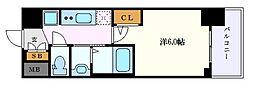名古屋市営東山線 新栄町駅 徒歩11分の賃貸マンション 15階1Kの間取り