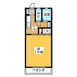 小林ハイツ六軒[3階]の間取り