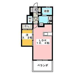 ラフレシーサ大橋II[3階]の間取り