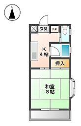 白竜荘[2階]の間取り