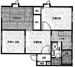 ディアネス清雅[2階]の間取り