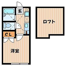 神奈川県横浜市神奈川区片倉2の賃貸アパートの間取り