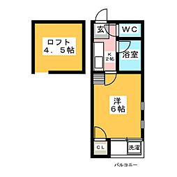 インペリアル博多II[2階]の間取り