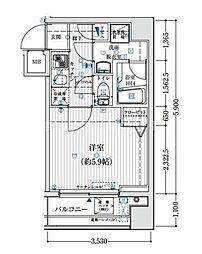 リライア吉野町[6階]の間取り