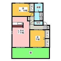 バリューサンサン[1階]の間取り