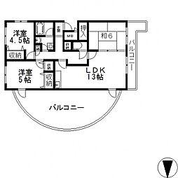 ツール・ド・オルフェ[406号室号室]の間取り