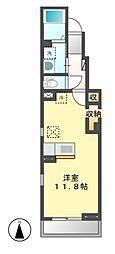 ソレイユ泉 B[1階]の間取り