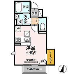 福岡県北九州市小倉南区北方3丁目の賃貸アパートの間取り