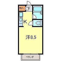 グランドトライン3号館[104号室]の間取り