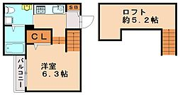 ルアーナ井尻[1階]の間取り