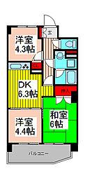 ライオンズマンション浦和県庁前[203号室]の間取り