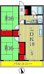 ローヤルハイツ渋谷[4階]の間取り