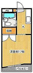 ハイツTBS A棟[1階]の間取り