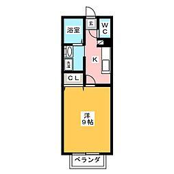 ドミール三島下[1階]の間取り