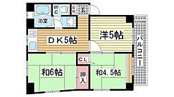 グレベリアマンション[3階]の間取り