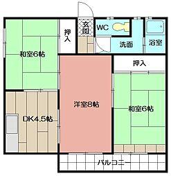 小森江サンハイム[2F号室]の間取り
