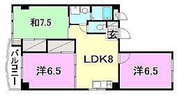 ビージョイマンション5号館[401号室]の間取り