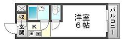 アーバンハイツテラモト[4階]の間取り