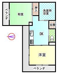 富士昭和ビル2[6階]の間取り