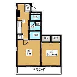ハーブガーデン[2階]の間取り