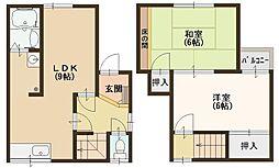[一戸建] 大阪府八尾市都塚1丁目 の賃貸【/】の間取り