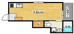 広島県広島市東区尾長東3丁目の賃貸アパートの間取り
