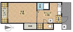 第8ちどり荘[204号室]の間取り