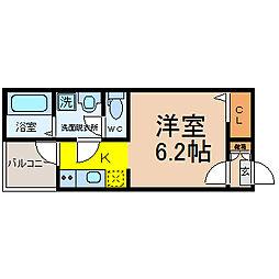 愛知県名古屋市北区志賀町1の賃貸アパートの間取り