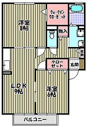 ガーデンハウス明正B棟[1階]の間取り