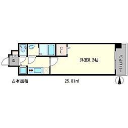 べラジオ京都一乗寺[2階]の間取り