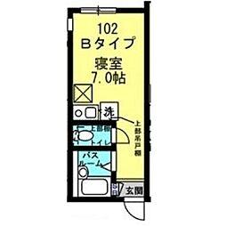 Well−B横濱反町I[0102号室]の間取り