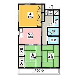 メリーハウスI[4階]の間取り
