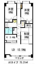 リーフマンション グロリアス[3階]の間取り