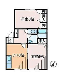 神奈川県川崎市麻生区片平3丁目の賃貸アパートの間取り