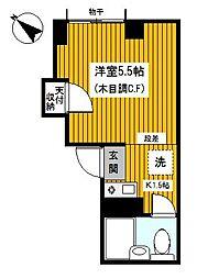 神奈川県横浜市神奈川区三ツ沢東町の賃貸マンションの間取り