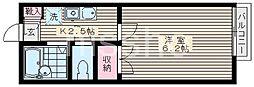 東京都練馬区中村北3丁目の賃貸アパートの間取り