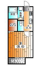 ル・コンフォール[1階]の間取り