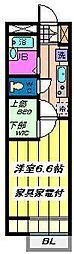 埼玉県川口市桜町1の賃貸アパートの間取り